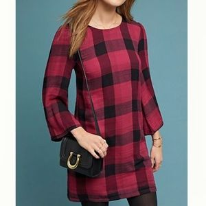 Anthropologie Cloth & Stone Plaid Tunic.